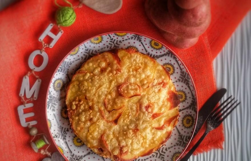 tortino di patate rosse al forno